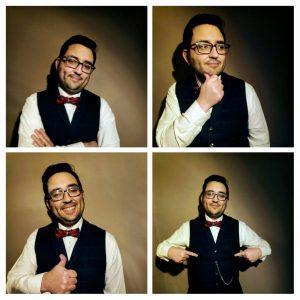 Professor M in different poses