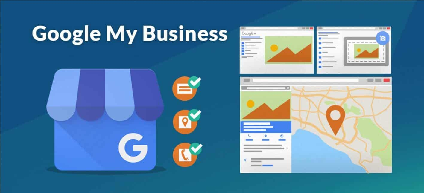 Image representing the various ways Google my business appears in the Google search engine