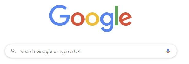 screenshot of Google Search Main Page