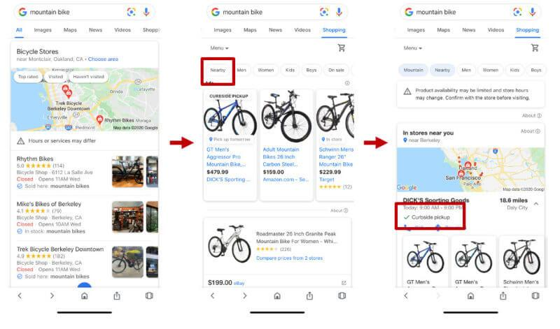 Local Shops Card in Google Shopping