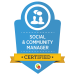 SCM social and community badge from digital marketeer