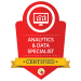 analytics and data specialist badge from digital marketeer
