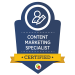 content marketing specialist badge from digital marketeer