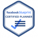 Facebook blueprint Certified Planner badge image