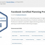 Image of Facebook Certified Planning Professional Facebook Certificate Blueprint