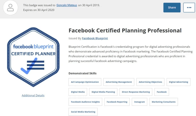 Image of Facebook Certified Planning Professional Facebook Certificate Blueprint