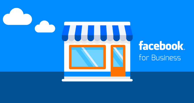 Image has a shop, business in blue and with Facebook For business written to represent Facebook for Business Workshop