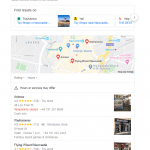a screenshot of Google search local pack desktop