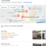 screenshot of Google Search local pack mobile