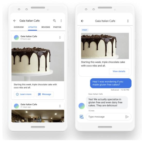 Google My Business Posts with Messaging Option