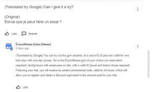 screenshot of Google My Business Q&A Short New Version