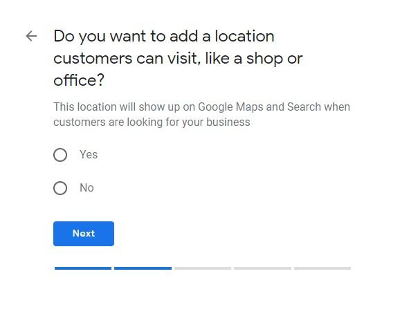 Google My Business Setup Do you want to add a location screen
