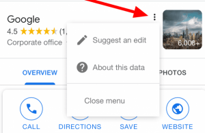 "Google My Business ""Suggest an edit"" New Location on Mobile Example"