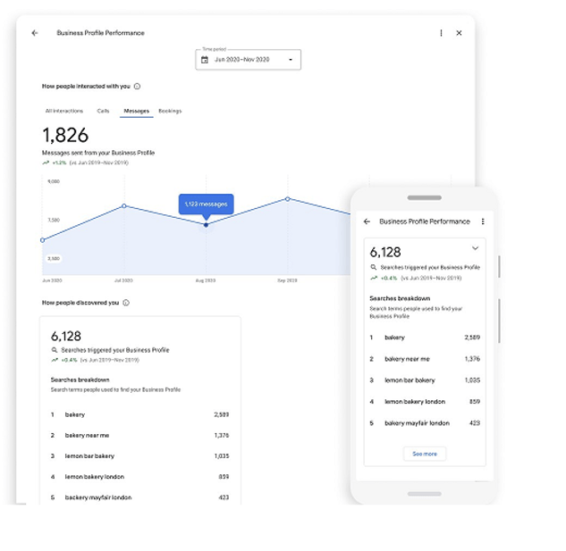 Google My Business Profile Performance Dashboard