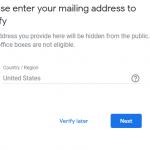 Google My Business Verification Address Issue