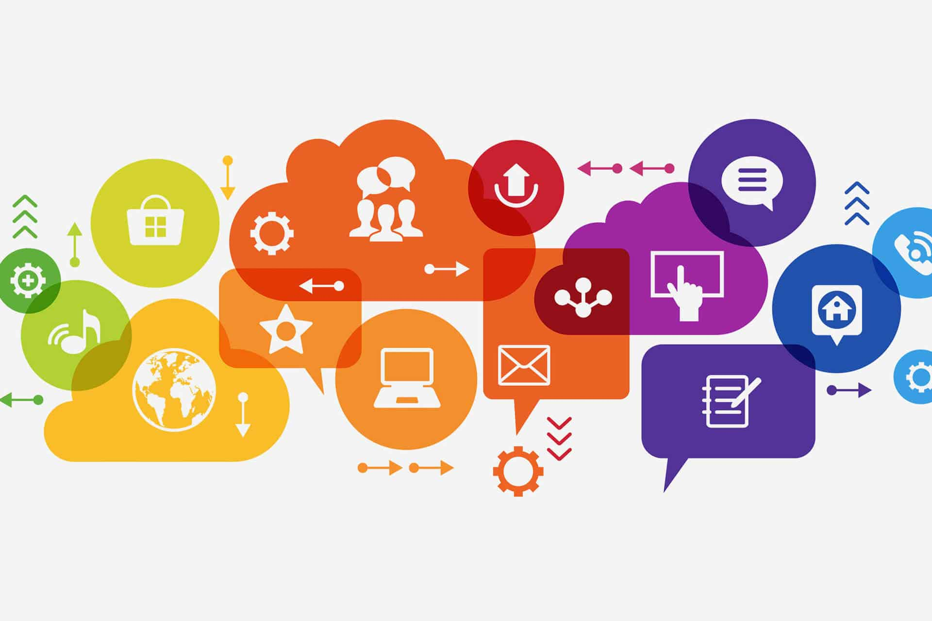 various icons about digital marketing